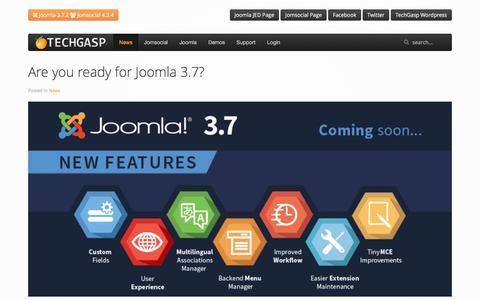 Screenshot of Press Page techgasp.com - TechGasp - News - captured June 12, 2017