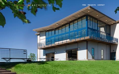 Screenshot of Home Page peterson-architects.com - Peterson Architects - captured July 12, 2016