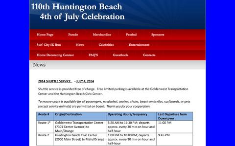 Screenshot of Press Page hb4thofjuly.org - News - captured Oct. 30, 2014