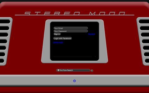 Screenshot of Login Page stereomood.com - stereomood - captured July 4, 2016