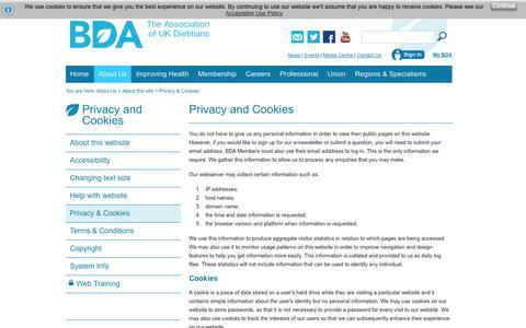 Screenshot of Privacy Page bda.uk.com - privacy - captured Oct. 8, 2014