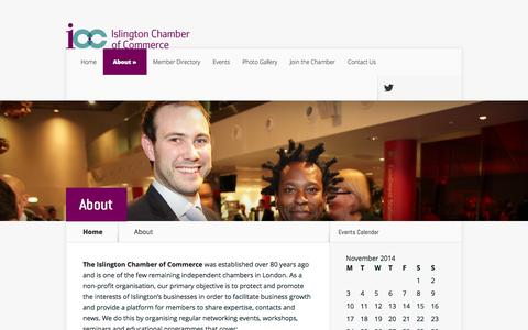 Screenshot of About Page islingtonchamber.org.uk - About | Islington Chamber of Commerce - captured Nov. 3, 2014