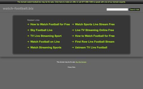 Screenshot of Home Page watch-football.biz - Watch-Football.biz - captured Jan. 21, 2016