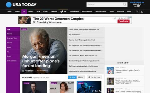 Screenshot of Team Page usatoday.com - Celebrity Photos, Videos and Interviews - USATODAY.com - captured Dec. 6, 2015