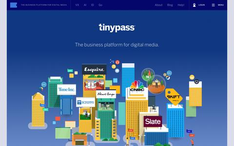 Screenshot of Home Page tinypass.com - Tinypass - captured July 15, 2015
