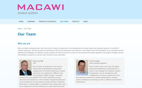 Screenshot of Team Page macawi.com - Our Team | www.macawi.com - captured Oct. 4, 2014