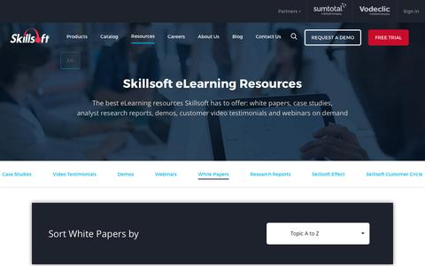 Skillsoft Online Learning Resources | eLearning Providers