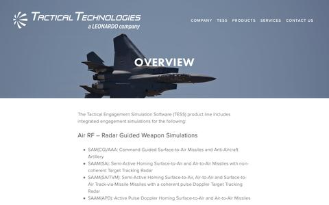 Screenshot of Products Page tti-ecm.com - Overview — Tactical Technologies Inc. - captured Oct. 18, 2018
