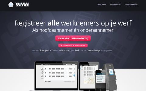 Screenshot of Home Page werf-registratie.be - Werfregistratie - captured Sept. 19, 2015