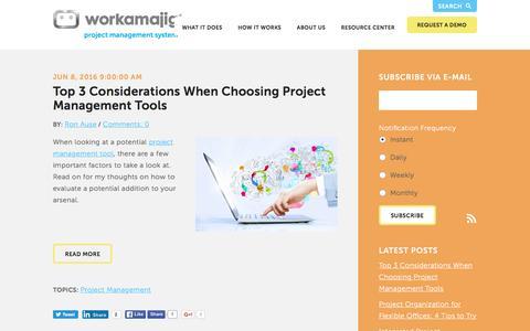 Screenshot of Blog workamajig.com - Workamajig Blog - captured June 9, 2016