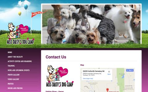 Screenshot of Contact Page missdaisys.com - Miss Daisy's Dog Camp - captured June 17, 2016