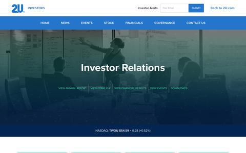 Investor Relations - 2U, Inc.