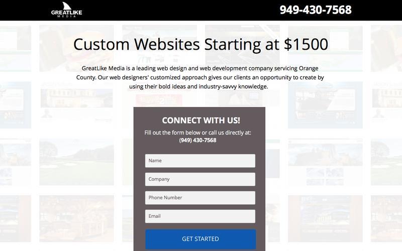 Website Design Orange County - Web Development - GreatLike Media