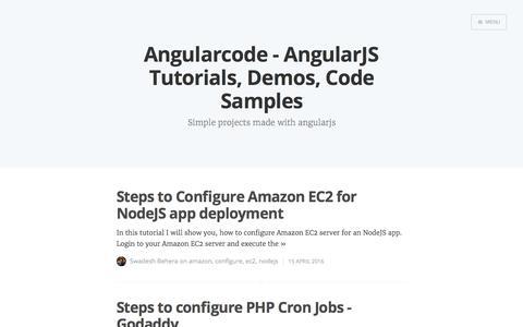 Screenshot of Home Page Menu Page angularcode.com - Angularcode - AngularJS Tutorials, Demos, Code Samples - captured Oct. 30, 2017