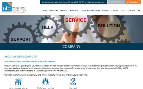 About Us, Western Computer | World Class Partner in Microsoft Dynamics