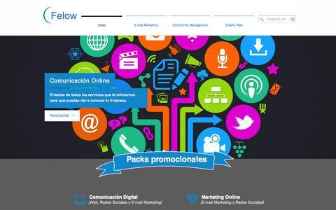 Screenshot of Home Page felow.net - Felow DMG Media   Comunicación Online y Marketing online - captured Jan. 24, 2015