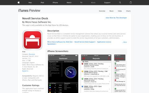Novell Service Desk on the App Store