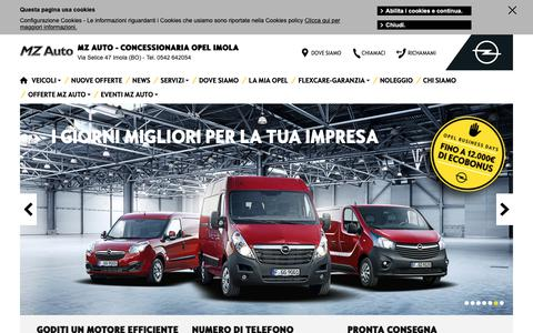 Screenshot of Home Page mzauto.it - Homepage Concessionaria Opel MZ auto - captured Oct. 1, 2018