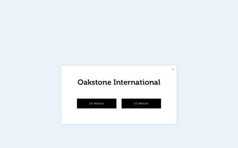 Screenshot of Home Page oakstone.co.uk - Oakstone International Executive Recruitment - captured Nov. 17, 2018