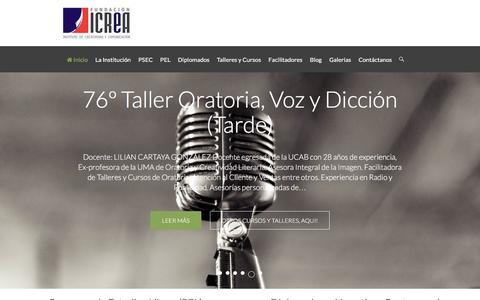 Screenshot of Home Page icrea.org.ve - Fundación ICREA – Formación Integral del Talento Creativo - captured Feb. 20, 2016