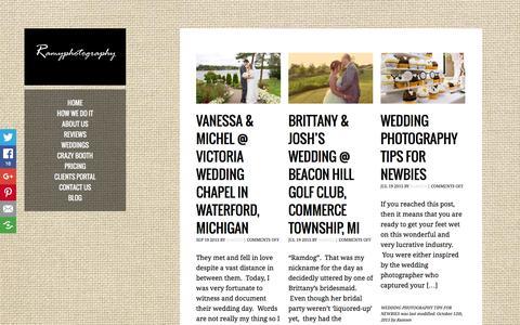 Screenshot of Blog ramyphotography.com - Ann Arbor Wedding Photographer | Affordable Wedding Photographers in Metro Detroit Michigan - captured Jan. 23, 2016