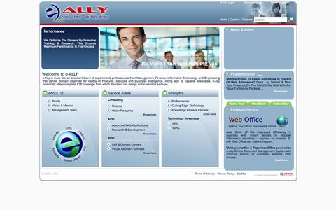 Screenshot of Home Page Site Map Page Terms Page e-ally.in - e-Ally | Water Recycling | Finance | Corporate Governance | Capital Markets - captured Feb. 2, 2016