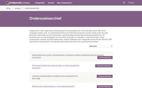 Onderzoeksarchief - Independer.nl