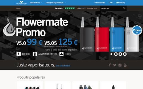 Screenshot of Home Page vaposhop.fr - Achetez votre vaporisateur sur VapoShop - captured Sept. 2, 2015
