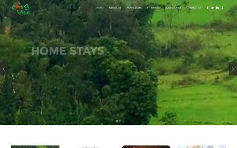 Screenshot of Home Page coorgbliss.com - Coorg Bliss - captured Sept. 30, 2014