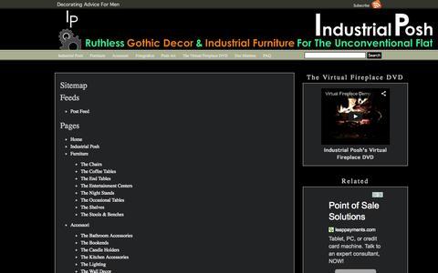 Screenshot of Site Map Page industrialposh.com - Sitemap Industrial Posh - captured Sept. 30, 2014