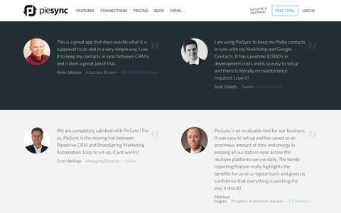 Screenshot of Testimonials Page piesync.com - PieSync Testimonials - PieSync - captured Dec. 16, 2016