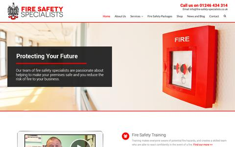 Screenshot of Home Page fire-safety-specialists.co.uk - Fire Safety Specialists   Thorough & Sensible Fire Safety - captured Nov. 14, 2018