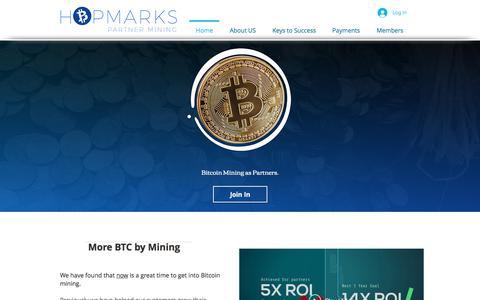 Screenshot of Home Page hopmarks.com - hopmarksllc - captured July 21, 2018
