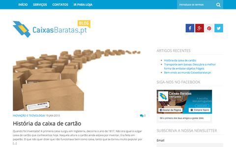 Screenshot of Blog caixasbaratas.pt - Caixas Baratas - Blog - captured Sept. 26, 2018