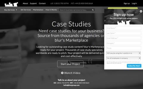 Screenshot of Case Studies Page blurgroup.com - Case Study Copy Writing   blur Group - captured Oct. 1, 2015