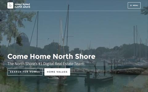 Screenshot of Home Page northshoreviews.com - North Shore Chicago real estate | homes and properties for sale | community info | Come Home North Shore Team - captured May 23, 2016