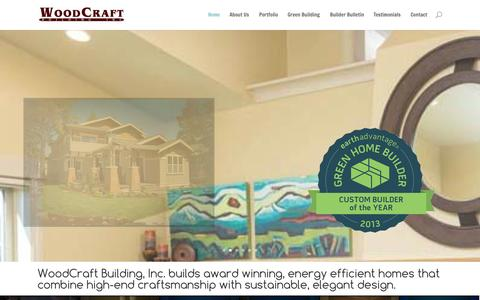 Screenshot of Menu Page woodcraftinc.com - WoodCraft Building | Custom Home Building, Design and Remodeling in Bend, Oregon - captured Oct. 26, 2014