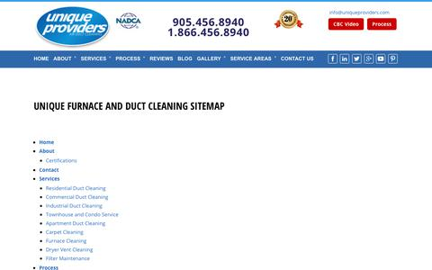 Screenshot of Site Map Page uniqueproviders.com - sitemap - Duct Cleaning Toronto | Vent Cleaning - captured Oct. 26, 2017