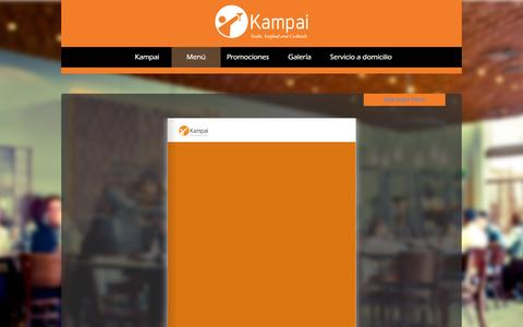 Screenshot of Menu Page kampai.mx - Menú - captured Feb. 12, 2016
