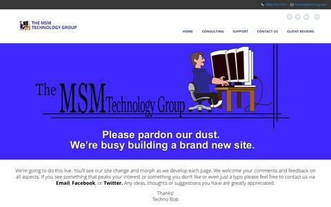 Screenshot of Home Page msmcg.com - MSMCG - captured Oct. 6, 2014