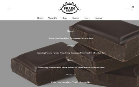 Screenshot of Press Page praimgroup.com - News/Press       – Praim Group - captured May 12, 2017