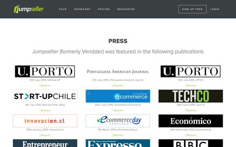Screenshot of Press Page jumpseller.com - Press - captured Nov. 21, 2016
