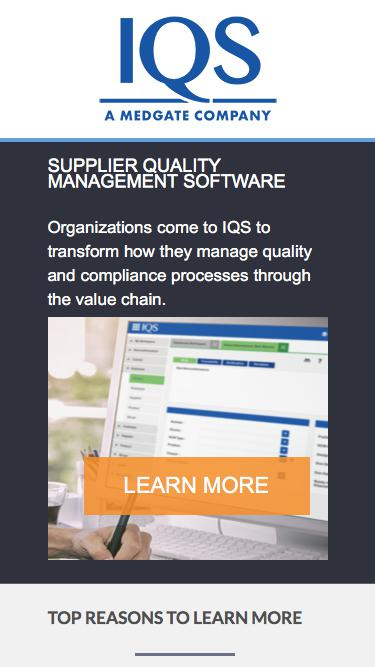 IQS offers quality management software  for manufacturing