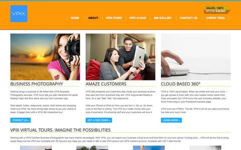 Screenshot of About Page vpix.co.uk - About VPiX UK   Virtual Tours and Professional Photography Services - captured Oct. 7, 2014