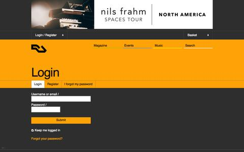 Screenshot of Login Page residentadvisor.net - RA: Login - captured Oct. 26, 2014