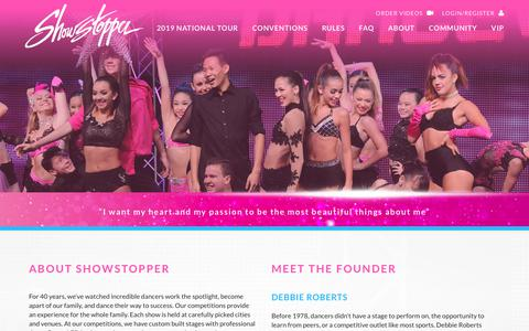Screenshot of About Page goshowstopper.com - OUR STORY   About Showstopper America's #1 Dance Competition Showstopper - captured Sept. 23, 2018