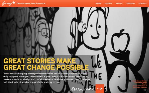 Screenshot of Home Page freerange.com - Free Range Studios   Branding   Interactive   Storytelling   Design   Washington, DC   Oakland, CA - captured Sept. 19, 2014