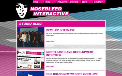 Screenshot of Blog nosebleedinteractive.com - Studio Blog | Nosebleed Interactive - captured Oct. 26, 2014