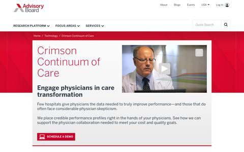 Crimson Continuum of Care | The Advisory Board Company