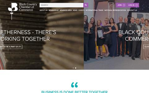Screenshot of Home Page blackcountrychamber.co.uk - Home - Black Country Chamber of Commerce - captured Nov. 13, 2018